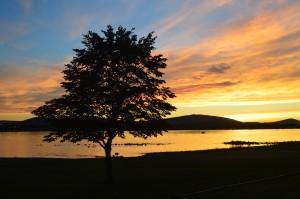 Columbia River, sunset