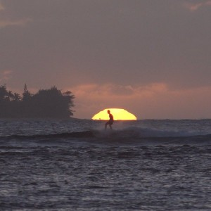 Kauai, Hawaii, surfers from my 4k video camera